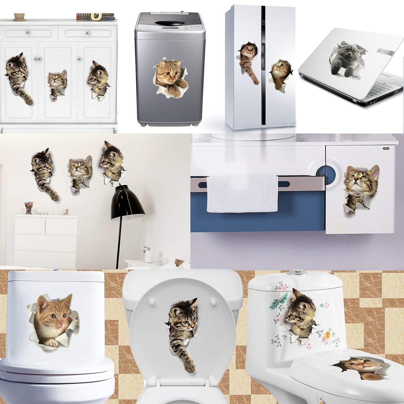 Amazon.com: 9 pegatinas de pared con diseño de animales ...