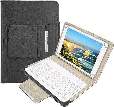 Eboxer Funda con Teclado Bluetooth Portátil Desmontable, Soporte Incorporado se Sujeta de Forma Segura para 9.7-10.1 in iPad/Tableta Samsung, para ...