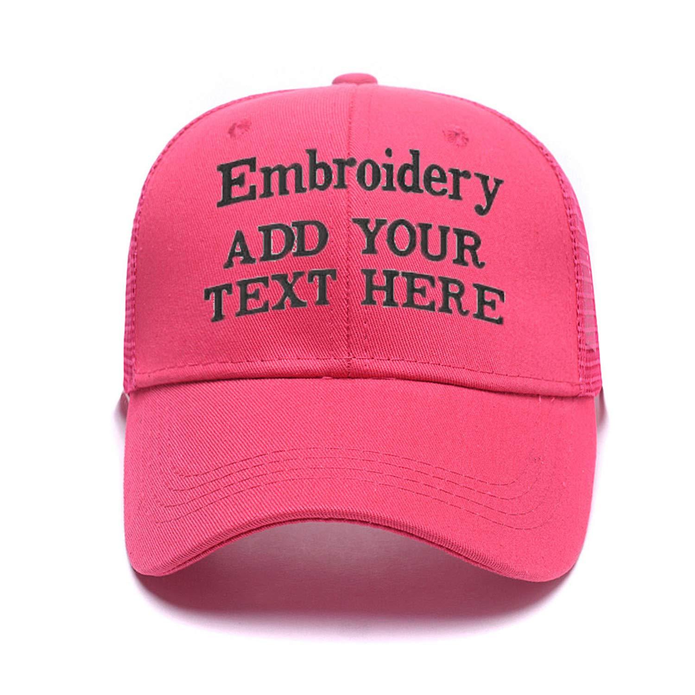 Custom Embroidered Baseball Caps Ponytail Messy High Bun Hat Ponycaps  Adjustable Mesh Trucker Hats 6f3201de7d02