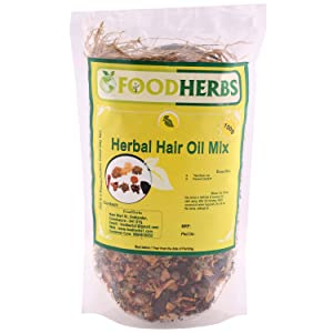 Foodherbs Herbal Hair Oil Mix (18 Vital Herbs) For long, thick, and lustrous hair