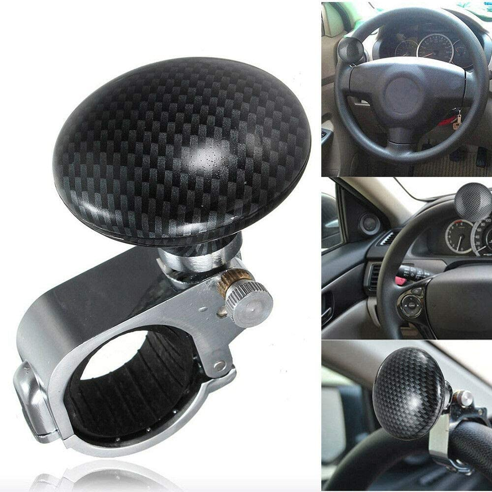 JINYI Steering Wheel Spinner Knob Universal fit Premium Quality Suitable for All Vehicles with Power Handle Black