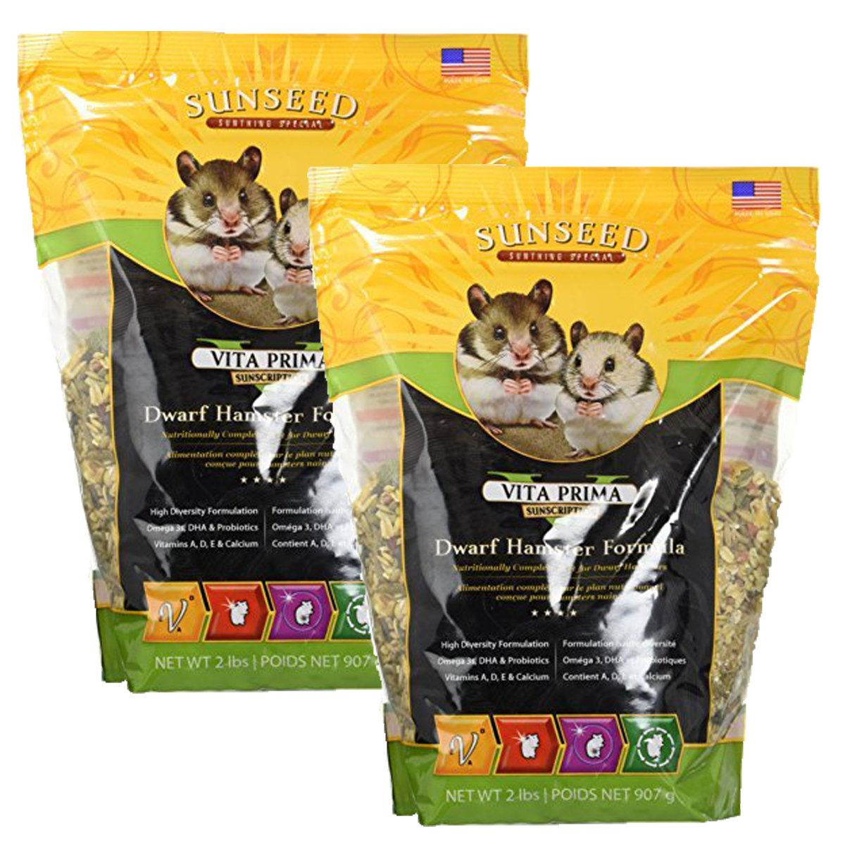 Sunseed Vita Prima Sunscription Dwarf Hamster Formula (2 lb / 2 Pack)