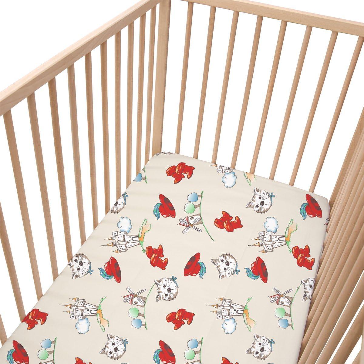 Bambou panda Drap housse PatiChou 100/% Coton motif animaux pour berceau b/éb/é 50x83 cm