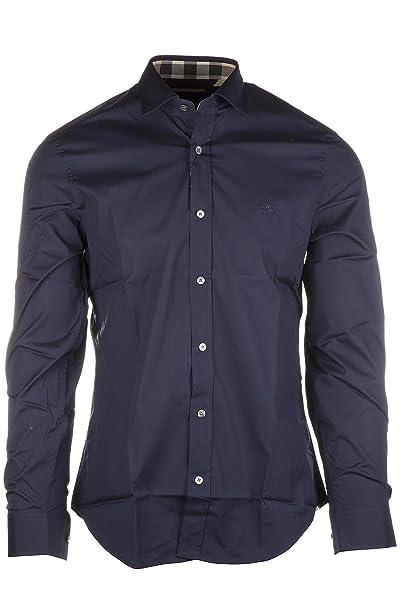 b58918fd0f0d Burberry Camicia Uomo Maniche Lunghe Nuova Cambridge Blu: Amazon.it:  Abbigliamento