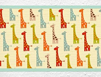 I-love-Wandtattoo Kinderzimmer Bordüre Borte Giraffe Afrika ...