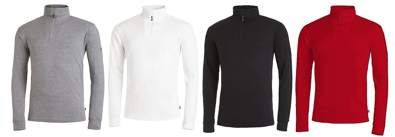 Medico Herren Ski Shirt, 100%Baumwolle, langarm, Rollkragen,  Reißverschluss: Amazon.de: Sport & Freizeit