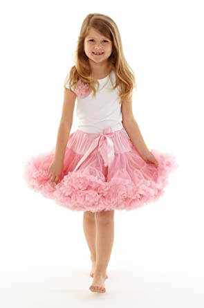 388315264f Dusty Pink Pettiskirt/Tutu (age 6-8 years): Amazon.co.uk: Clothing