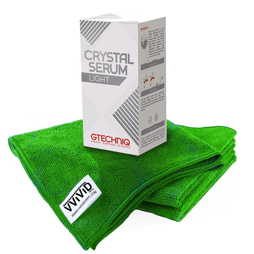 Gtechniq Crystal Serum Light Ceramic Coating 30ml with VVIVID Microfiber Towel Kit