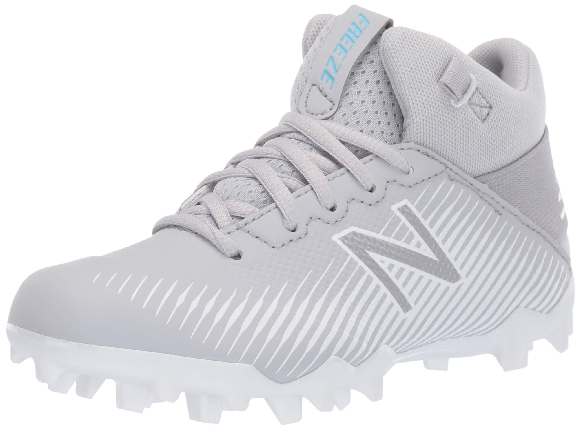 New Balance Boys' Freeze V2 Agility Lacrosse Shoe, Grey/White, 2 M US Little Kid