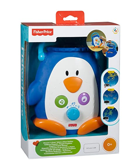 Mattel W9893 Fisher-Price - Pingüino proyector con música y luz ...