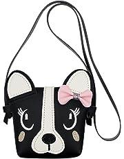 Kids Bowknot Single Shoulder Bag Cute Dog Small Crossbody Bag Wallet Handbag