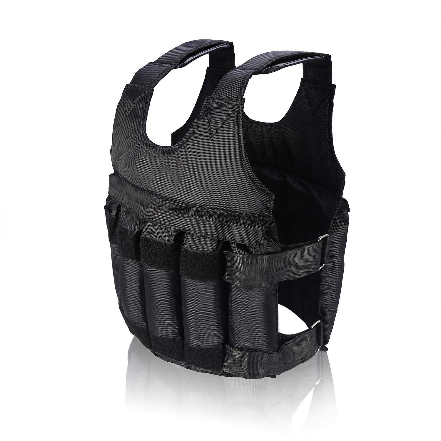 Weighted Vest 50KG Max Loading Durable Nylon Multiple Pouches Training Vest for Exercise Boxing Training Fitness