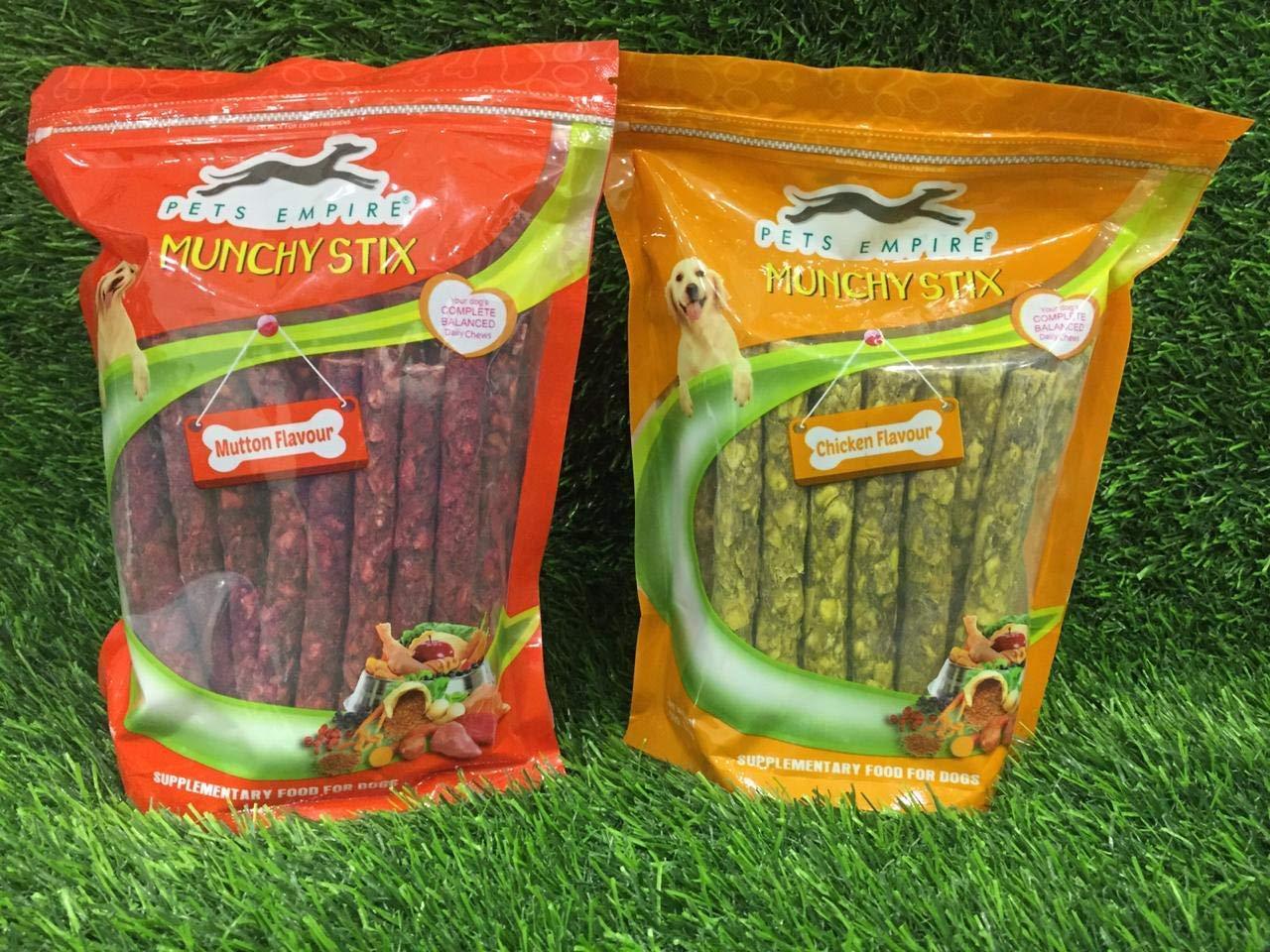 Pets Empire Best Combo Offer Dog Chew, Chicken, 500 g with Dog Chew Sticks,  Mutton, 500 g