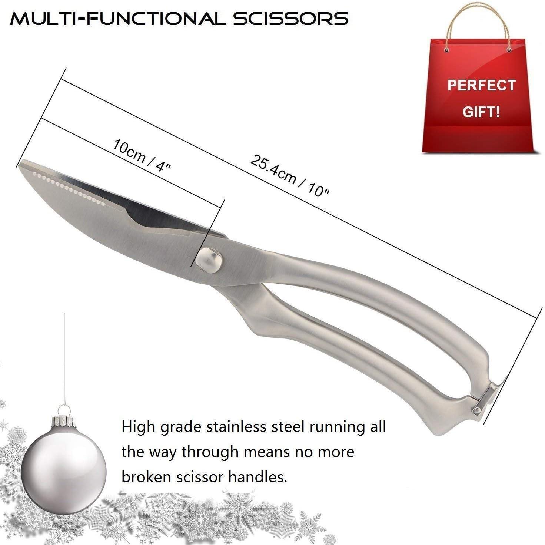 Dlkv Tijeras de Acero para Cocina hogar Cortador Hueso Pollo Multifuncional Acero Inoxidable /útil