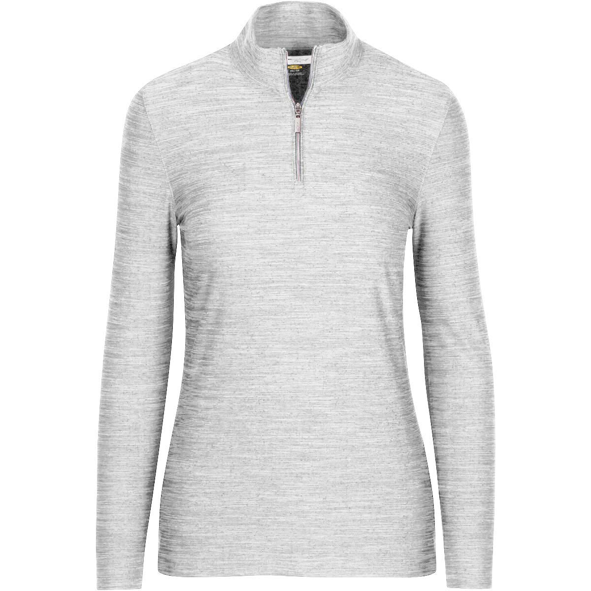 White Greg Norman Women's L s Heathered 1 4zip Mock