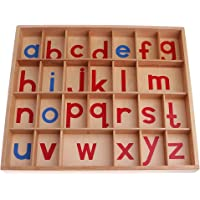 Montessori Movable Alphabet Beechwood Box Toy for Kids Early Learning Letter