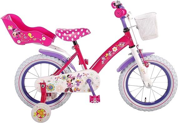 Bicicleta Niña Chica Disney Minnie Mouse 14 Pulgadas Ruedas ...