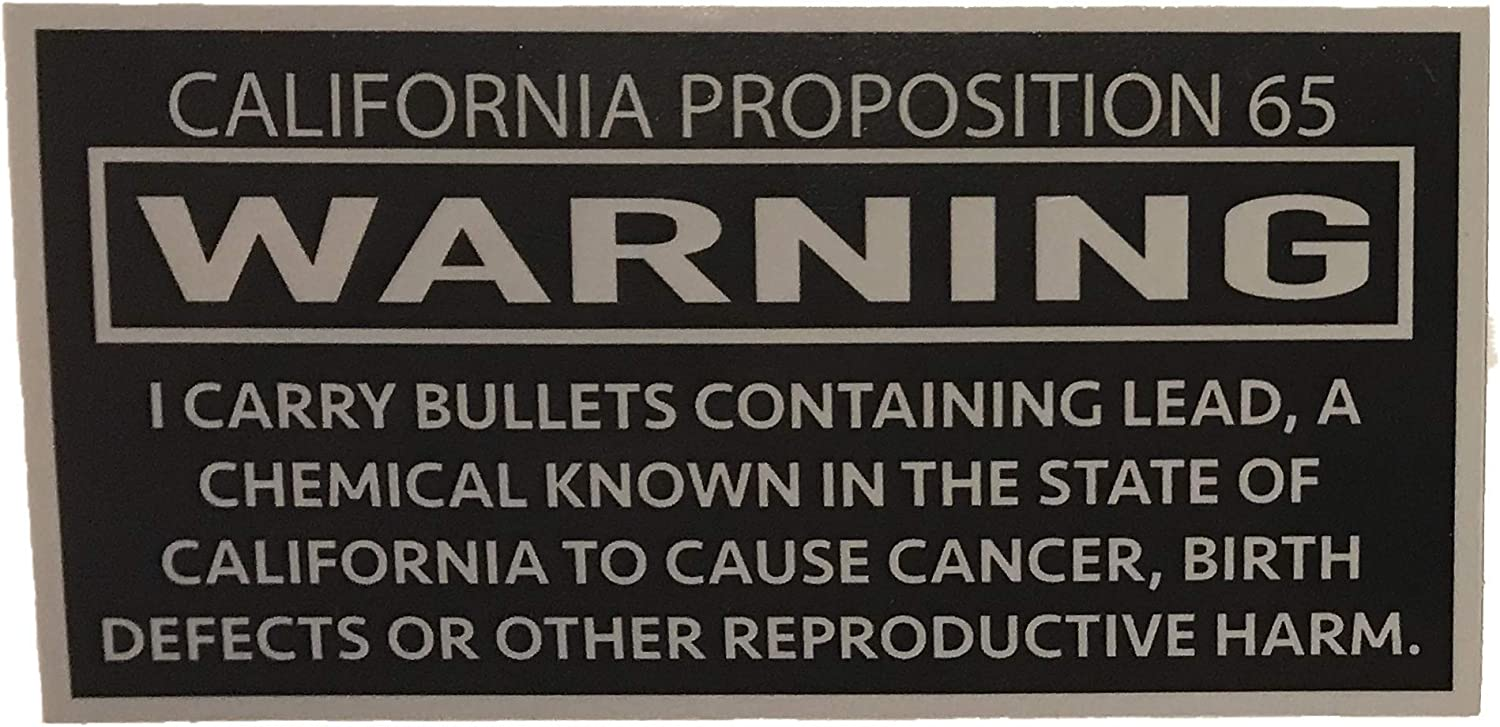 """F-Bomb Morale Gear California Prop 65""""Causes Caner Funny Warning for Gun Lovers - Bumper Sticker Vinyl Decal"""