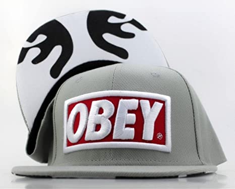 Obey Snapback Cap Hat Gorra grey Face Edition Last Kings LK Jay-Z ...