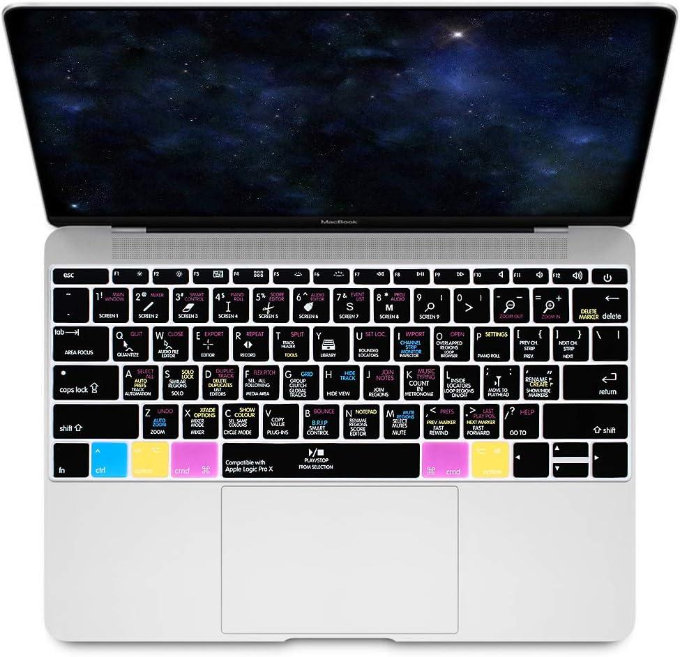 HRH Logic Pro X Hotkey Silicone Keyboard Cover Skin for MacBook Pro 13