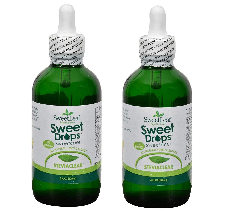 SWEETLEAF STEVIA SteviaClear Liquid Extract 4 OZ (Set of 2)
