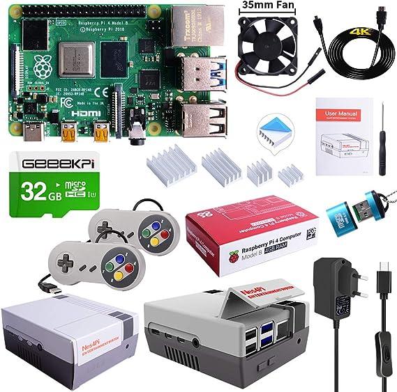 MakerFun Raspberry Pi 4 Model B Ultimate Kit con Tarjeta SD de ...