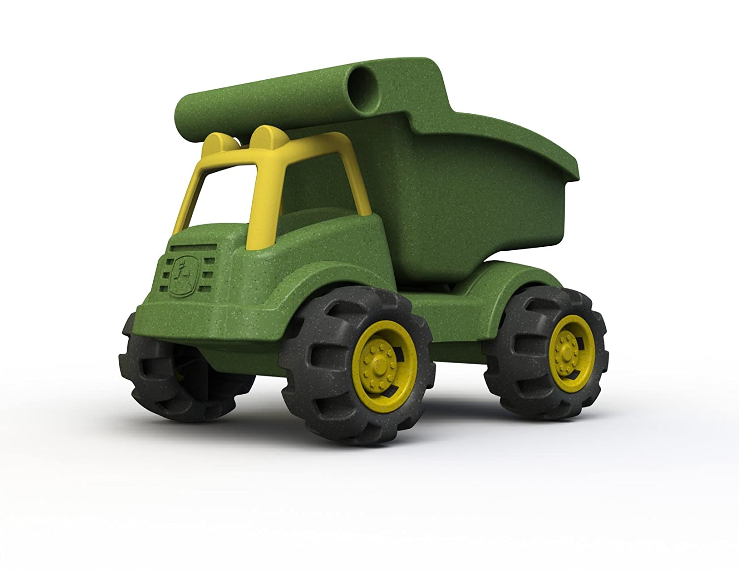 BeginAgain John Deere Dump Truck Made in The USA Farm Sandbox Toy for 2, 3 and 4 Year Olds, Green/Yellow Begin Again JD1602
