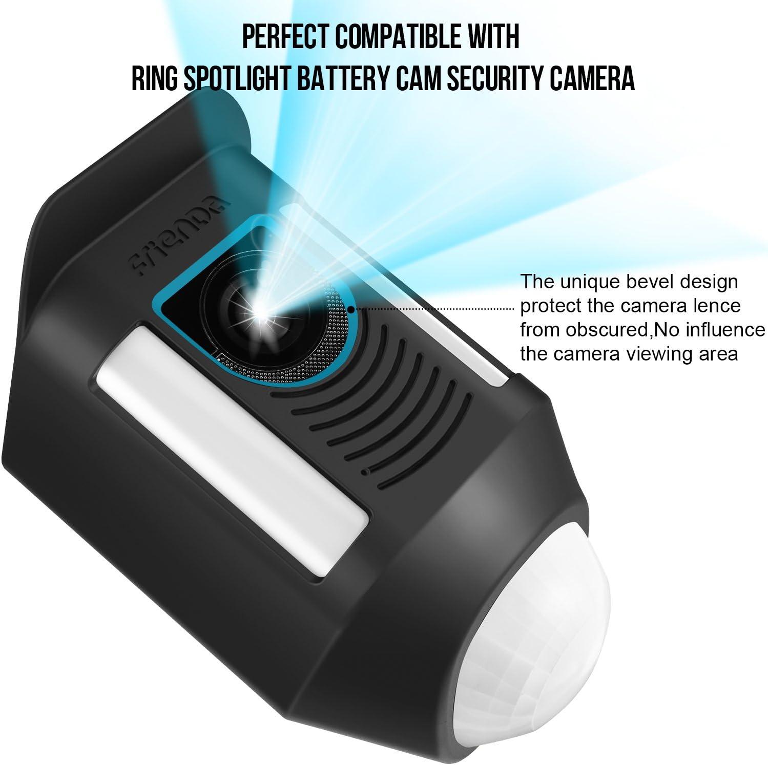 Silicone Cover Ring Spotlight Battery Cam Security Camera Skin Sun Glare Black