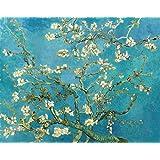 Amendoeira em Flor de Vincent van Gogh - 30x38 - Tela Canvas Para Quadro