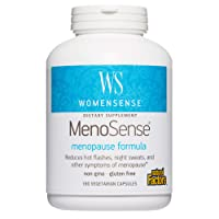 WomenSense MenoSense by Natural Factors, Natural Supplement to Help Improve Menopause Symptoms, Vegan, Non-GMO, 180 capsules (90 servings)