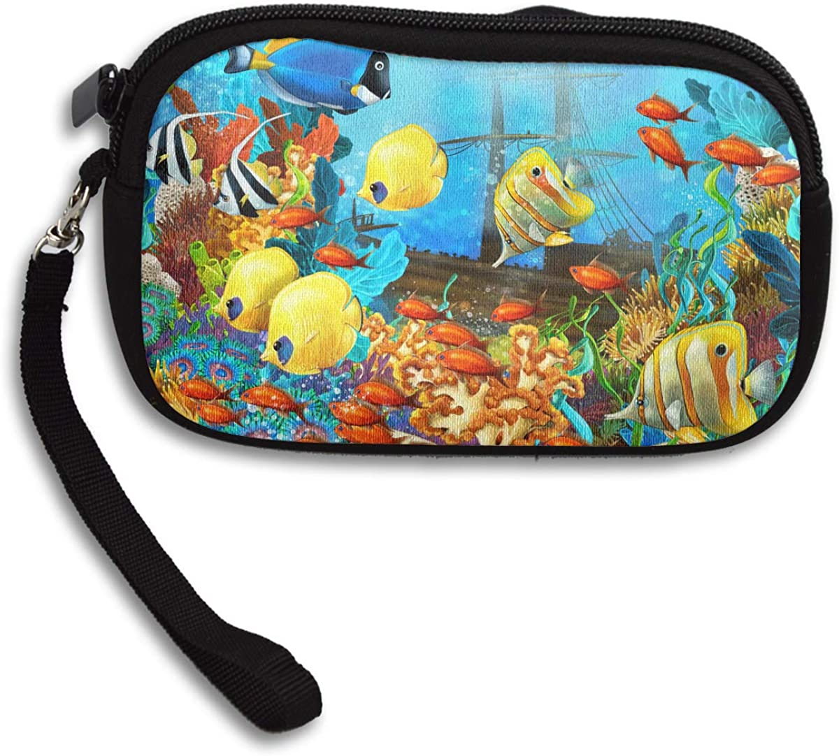 Colourful Fish Deluxe Printing Small Purse Portable Receiving Bag