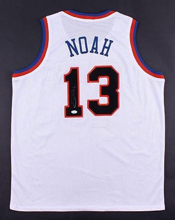 Joakim Noah Signed Jersey - NY ON COURT STYLE w COA BULLS - JSA Certified - 403f5b7fe