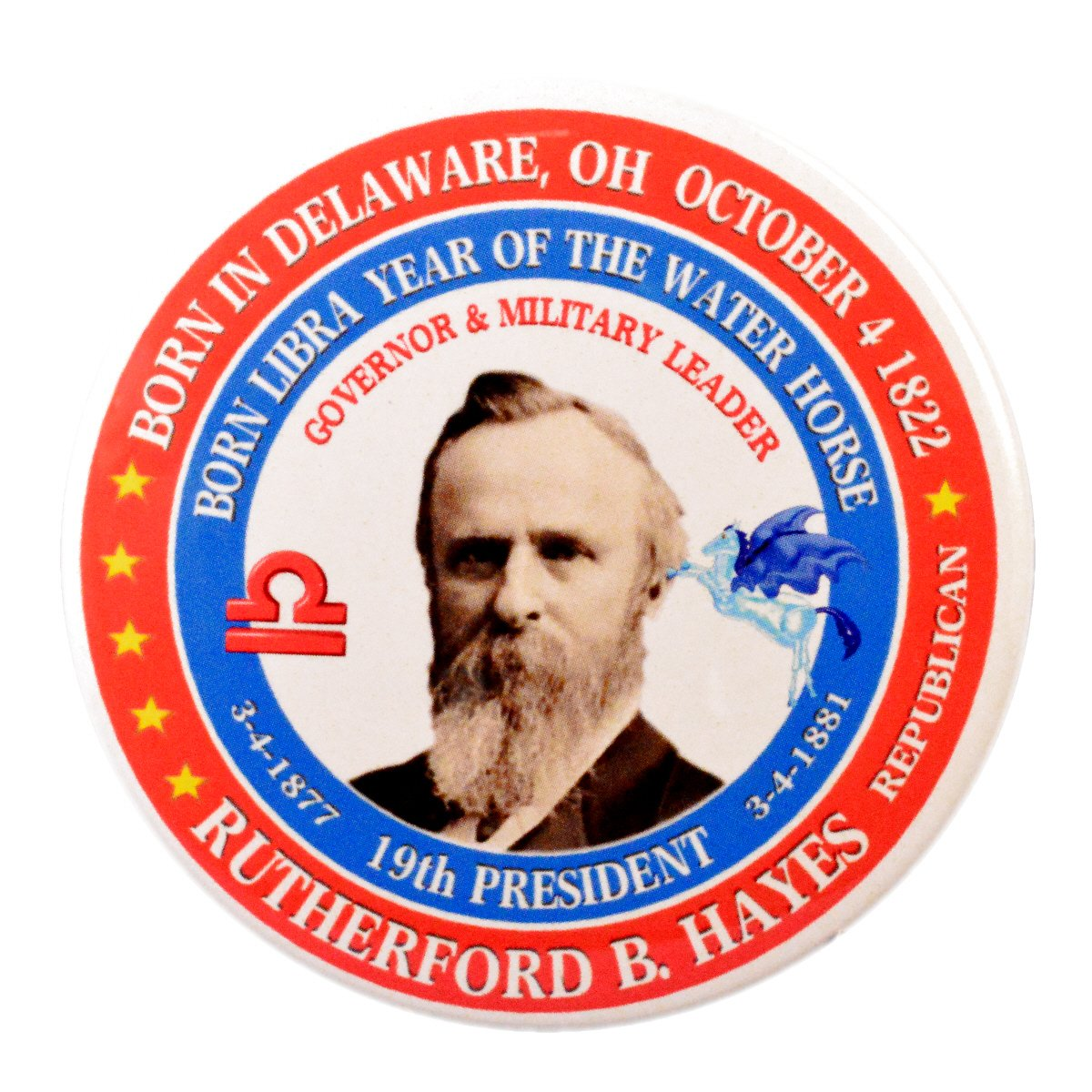 Amazon com: Rutherford B  Hayes 19th President Pin