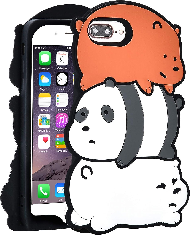 TopSZ 3 Bears Case for iPhone 8 Plus/ 7 Plus/6 Plus 5.5