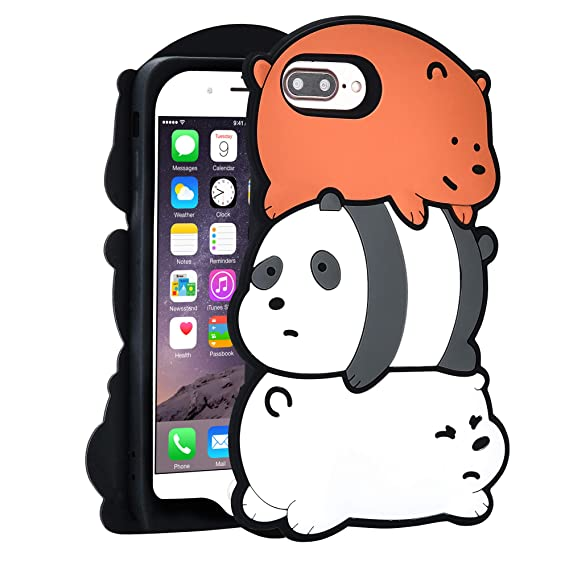 new product 0bc55 a1de9 TopSZ 3 Bears Case for iPhone 8 Plus/ 7 Plus/6 Plus 5.5