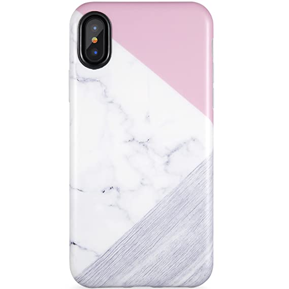 finest selection e523a d5b6f iPhone X Case for Girls,iPhone Xs Case, Marble and Wood Design,ZADORN Slim  Fit Cute for Women Girls Clear Bumper Soft Silicone TPU Thin Cover Best ...