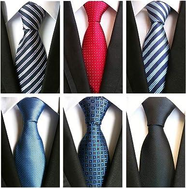 New Blue Silk Handmade Men Tie Fashion Wedding Office Party Formal Men Necktie