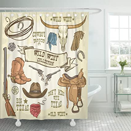 Amazon Emvency Shower Curtain Western Wild West Collection