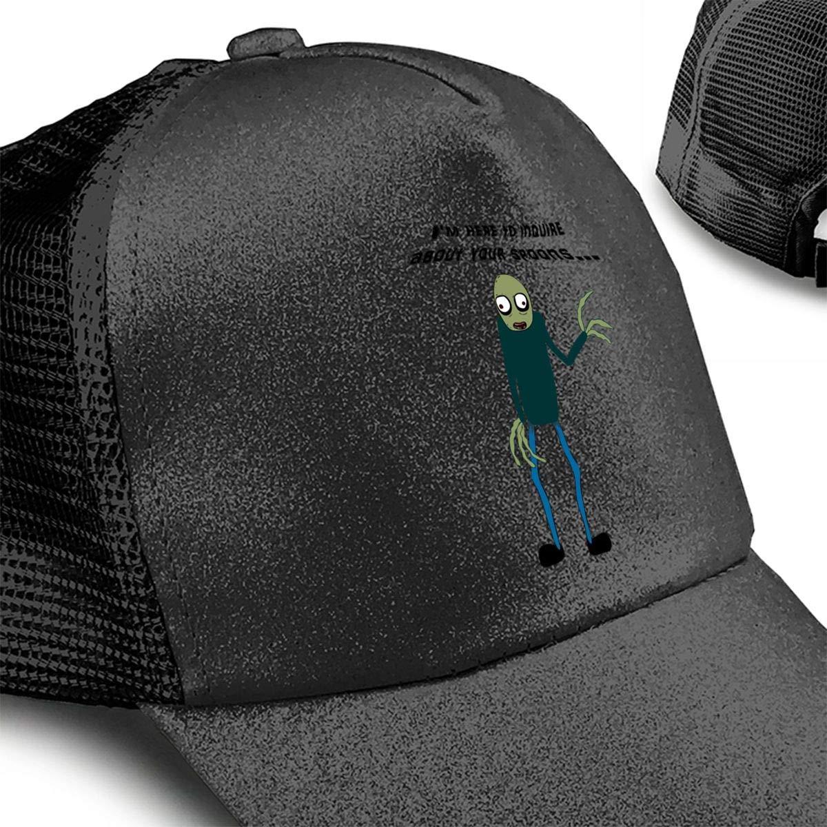 Salad Fingers Ponytail Messy High Bun Hat Ponycaps Baseball Cap Adjustable Trucker Cap Mesh Cap