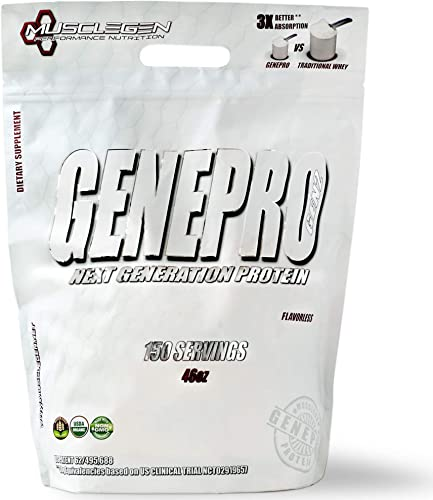 GENEPRO Protein 150 Servings, Premium Protein for Absorption, Muscle Growth and Mix-Ability