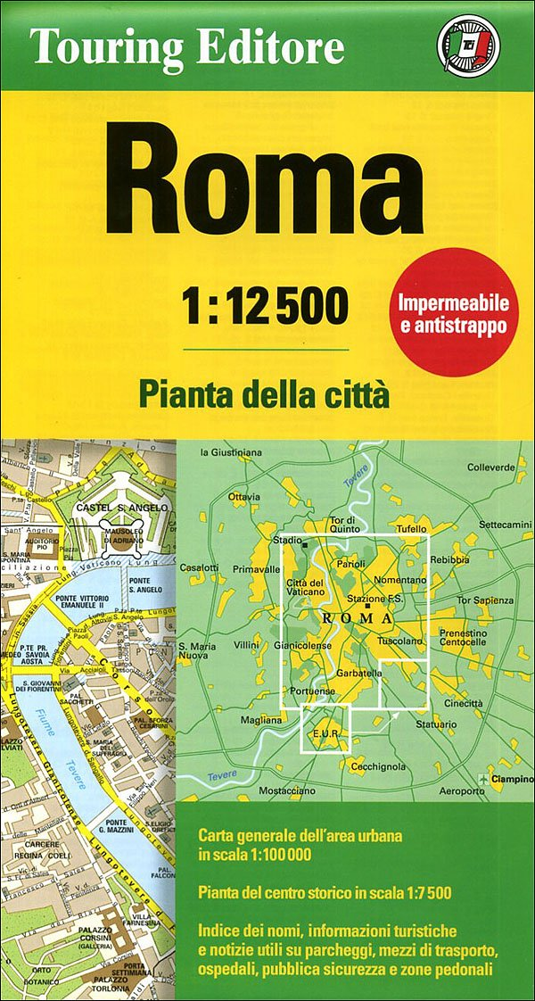 City Map Of Italy In English.Rome City Map 1 12 500 Tci English And Italian Edition Tci