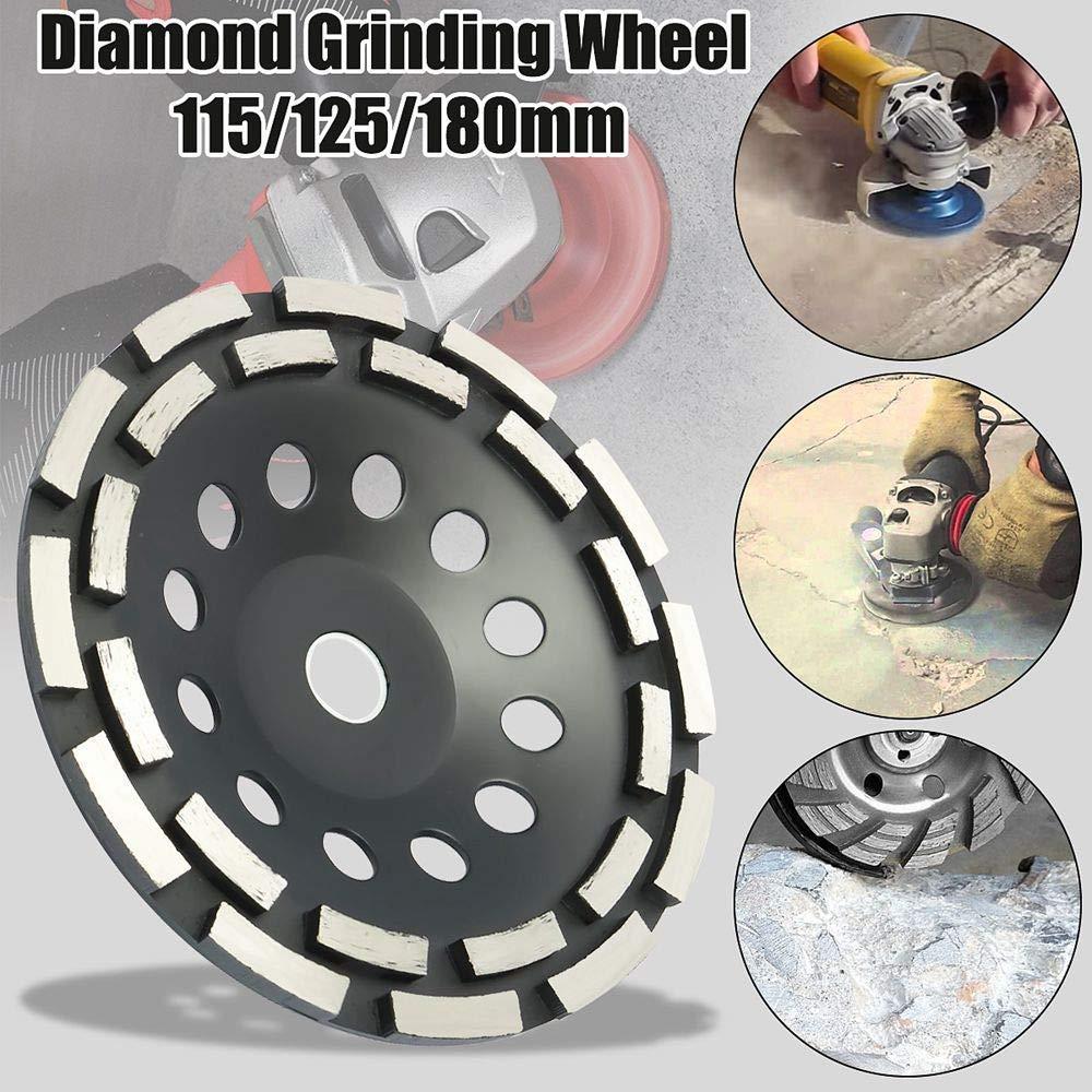 Herramienta de Concreto Abrasivo SUNJULY 180MM Disco de Pulido de Diamante Turbo de Concreto Rueda de 12 Dientes Corte de Piedra Herramienta de Trabajo Pesado Para Amoladora Angular