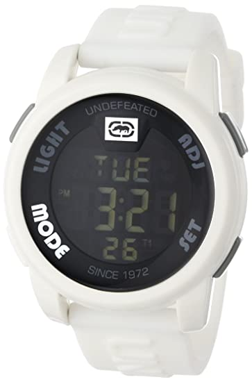 Amazon.com: Marc Ecko Mens E07503G2 20-20 Digital White Resin Strap Watch: Marc Ecko: Watches