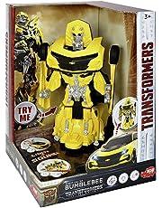 Robot Transformers Bumblebee transformable en coche con luz y sonido (Dickie 3113016)