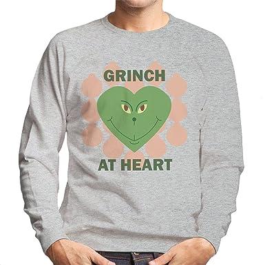 Grinch At Heart Christmas Mens Sweatshirt Amazonfr Vêtements Et