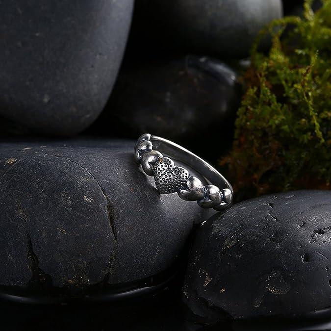 joyería de moda anillos de boda de época antiguos anillos de compromiso anillos de la promesa para ella con el tamaño del corazón-8: Amazon.es: Joyería