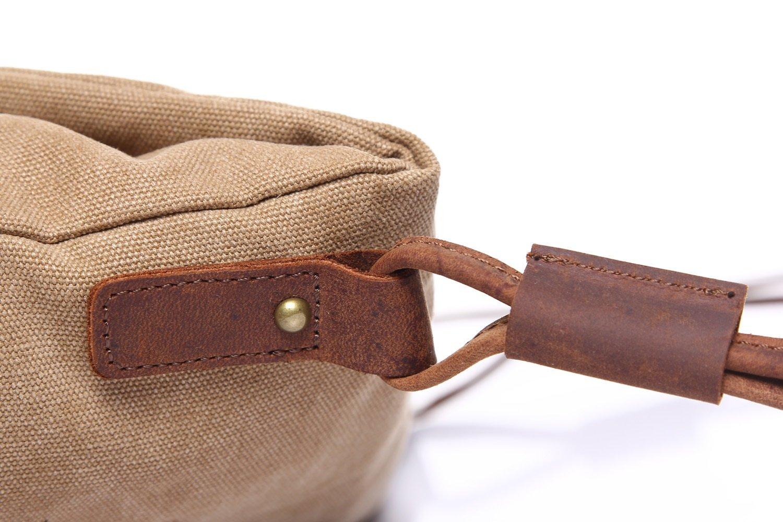 Bag Outdoor Leisure Mens Messenger Bag Retro Canvas Bag Shoulder Crazy Horseskin Mens Bag Art Trend Unisex Color : Brown, Size : M
