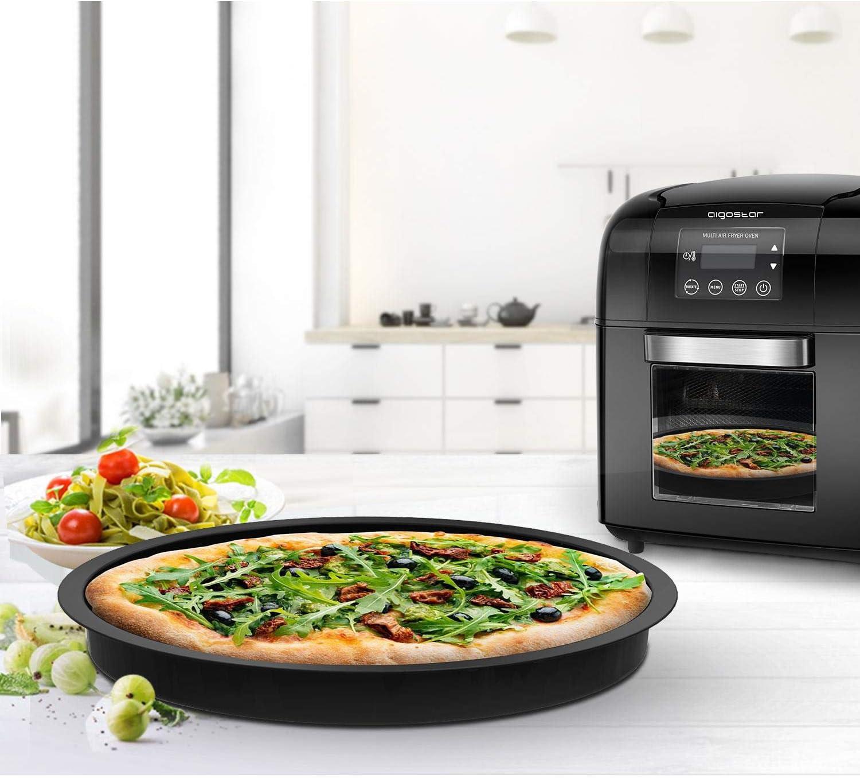 Aigostar Accesorio para horno de aire Aigostar Master – Bandeja redonda de aluminio para pizzas, quiches etc: Amazon.es: Hogar