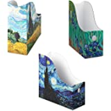 Dunwell Cardboard Magazine Folder Holders - (3 Pack, Assorted), Stunning Impressions Design, Magazine Organizer, Folder…