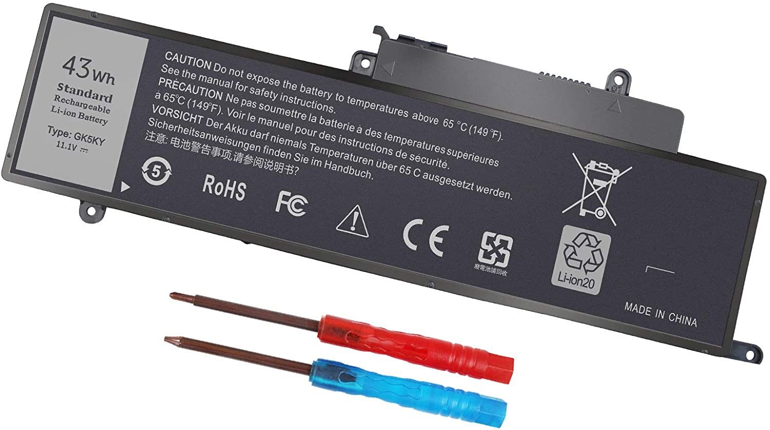 43WH GK5KY Battery for Dell Inspiron 11 3000 Series 3147 3148 3153 3152 3157 3158 15 7000 7558 7568 13 7353 7359 7347 7348 7352 4K8YH 92NCT 04K8YH RHN1C 0WF28 P20T P20T001 P55F P55F001 451-BBKK